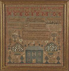 Scottish needlework sampler, wrought by Margaret Kingan 1817