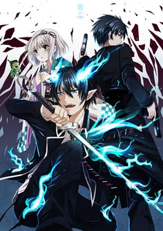 Blue Exorcist, also known as Ao no Exorcist, is an action comedy fantasy shonen manga with Multiple Demographic Appeal by Katou Kazue. Description from moviesonlinedb.com. I searched for this on bing.com/images