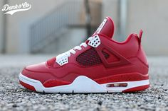 The Air Jordan 4 Red Cleats received a sole swap and is now wearable by Dank customs.