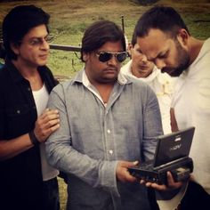SRK & Rohit deep in thought over a film sequence!