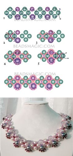 Free pattern for necklace Katherine | Beads Magic