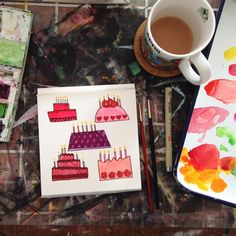 """""""Little morning warm-up to celebrate my niece's fifth birthday next weekend. """""""