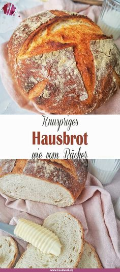 Wonderfully crispy: simple house bread like that from a baker- Herrlich knusprig : Einfaches Hausbrot wie vom Bäcker Do you also love delicious fresh bread? Easy Cookie Recipes, Bread Recipes, Cake Recipes, Frosting Recipes, Food Cakes, Food Blogs, Fresh Bread, Peanut Butter Cookies, Cheese Cookies