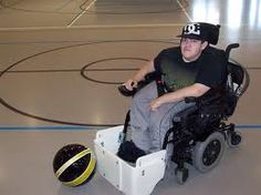 This is a really cool piece of adapted equipment. It is perfect for students with disabilities to get a chance to participate in games such as soccer and kickball.