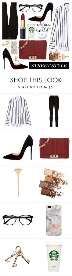 """""""GIRL POWER"""" by tamarasimic on Polyvore featuring MANGO, Paige Denim, Christian Louboutin, Rebecca Minkoff, Maybelline, EyeBuyDirect.com, Recover, girlpower and powerlook"""