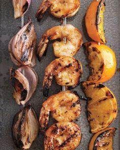Shallots, Shrimp, and Oranges with Apricot Glaze Recipe