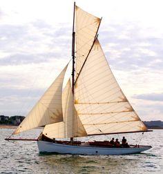 """""""Wilful"""" : Balades en mer sur un cotre gréé à corne (gaff-rigged) de Saint-Malo"""