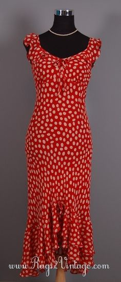 Rags 2 Vintage - All Dolled Up Vintage Retro 20s Style Silk Polka Dot Wiggle Dress, $39.99 (http://www.rags2vintage.com/all-dolled-up-vintage-retro-20s-style-silk-polka-dot-wiggle-dress/)