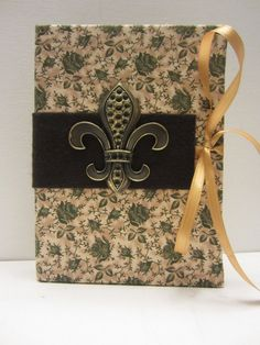 Green and Tan Floral Pattern with Fleur-de lis by TheElegantLady