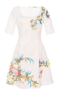 Floral Embroidered Mini Dress by Blumarine for Preorder on Moda Operandi