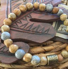 Nature Stone Bracelet Love Women's stretch gemstone by Ivanwerks