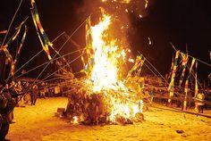 Burning tenpitsu so that it reaches heaven