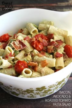 Bacon, Avocado & Roasted Tomato Pasta Salad is an easy-to-make side dish you can serve all summer long!
