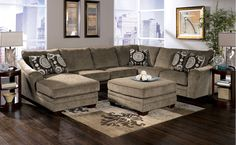 Signature Cosmo Sectional - Marble | Sectionals | Raleigh Furniture | Home Comfort Furniture