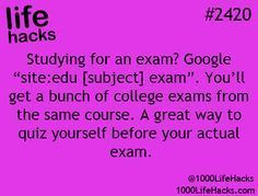 Life hacks - studying #LifeHack