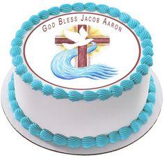 Holy Cross for Christening Edible Birthday Cake Topper