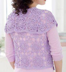 Lovely Lace Vest | AllFreeCrochet.com