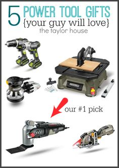 The Best Power Tool Gift Ideas for Men this Holiday and a giveaway where you can win a Sonicrafter! Gift Suggestions, Gift Ideas, Gift Baskets For Him, Host Gifts, Grilling Gifts, Diy Baby Gifts, Unique Birthday Gifts, Sentimental Gifts, Power Tools