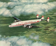 TWA Constellation  Pittsburgh-Chicago-LAX 1954  First flight for me age 9.