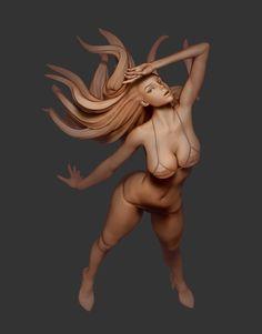 figure, Yu Yang on ArtStation at https://www.artstation.com/artwork/3x6vg