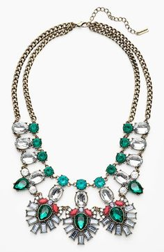 BaubleBar 'Drama' Mixed Stone Statement Necklace {on sale!}