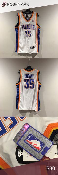 Kevin Durant #35 Oklahoma City Thunder Jersey Brand New w/tags. Adidas Oklahoma City Thunder Kevin Durant Jersey. 100% Authentic size 52 length +2 Adidas Tops
