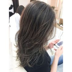 Dye My Hair, New Hair, Asian Hair Inspiration, Korean Hair Color, Hair Arrange, Hair Game, Hair Designs, Brown Hair Colors, Dark Hair