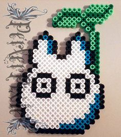 Totoro, chu Totoro and chibi Totoro. Bead sprite made from hama beads. I could not find the original artist for the sprite. I always would like to hear your opinion about the sprite. Pearler Bead Patterns, Perler Patterns, Pearler Beads, Totoro, Pixel Art, Bead Studio, Hama Beads Design, Iron Beads, Beaded Cross Stitch