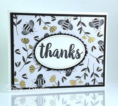 Stampin' Up! Golden Honey Designer Series Paper - Stamping With Tracy Golden Honey, Bee Cards, Card Sketches, Card Kit, Paper Cards, Creative Cards, Paper Design, Pattern Paper, Stampin Up Cards