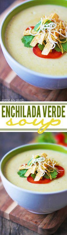 Easy, cheesy, enchilada verde soup!