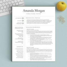 Crisp Clean With A Little Feminine Touch This Resume Template