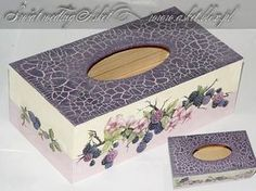 chustecznik decoupage z crackle classic Decoupage Furniture, Decoupage Box, Decoupage Vintage, Recycled Furniture, Tissue Box Covers, Tissue Boxes, Diy Y Manualidades, Kleenex Box, Shabby Chic Crafts