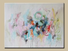 large abstract painting,Acrylic abstract-pastel shades painting-soft color-Contemporary painting