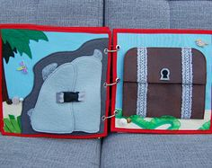 Piratebook  2 Quiet book pages Pirate ship  pirate PATTERN &