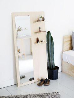 DIY plywood floor mirror CONTINUE:…