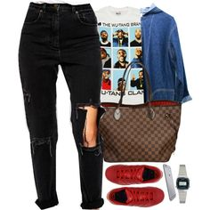 wu-tang. by pureh-e-r-o-i-n-e on Polyvore featuring polyvore, fashion, style, ASOS, Louis Vuitton and Casio
