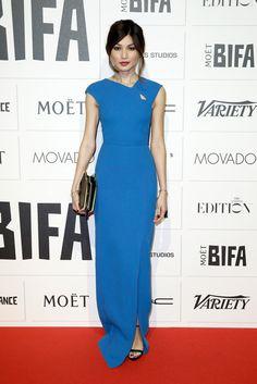 Gemma Chan in Roland Mouret attends The Moet British Independent Film Awards 2015 on December 6, 2016