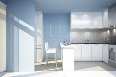 Contemporary Mediterranean Blue Kitchen Color Ideas Part Two