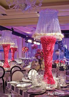 Crystal & Roses Tablescape Centerpiece www.tablescapesbydesign.com https://www.facebook.com/pages/Tablescapes-By-Design/129811416695
