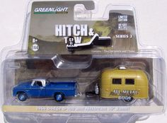 Greenlight Hitch & Tow Series 3 1966 Dodge D-100 & Airstream 16' BAMBI 1:64 #GreenLight #Dodge