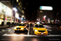 Manhattan and yellow cabs