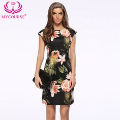 Find More Dresses Information about MYCOURSE New Summer Dress Womens Elegant Flower Printing Geometric Cheongsam Wear Work Business Pencil Sheath Bodycon Dresses ,High Quality dresses hippie,China pencil dresses and skirts Suppliers, Cheap dress pencil skirt from MYCOURSE on Aliexpress.com