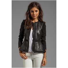 Rebecca Taylor Quilted Leather Jacket for Women