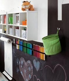 Parede de pintar para quarto infantil, mas que pode ser feita em qualquer ambiente da casa.