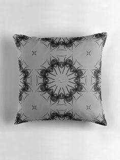 """spider circle"" Throw Pillows by Dark-Aura Black Goth, Gothic Home Decor, Metalhead, Occult, Satan, Mythology, Spider, Steampunk, Skull"