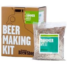 Brooklyn Brew Shop Afternoon Wheat Beer Making Kit: All-Grain Starter Set With Reusable Glass Fermenter, Brew Equipment, Ingredients (Malted Barley, Hops, Yeast) Perfect For Brewing Craft Beer At Home Beer Making Kits, Wine Making, Beer Brewing, Home Brewing, Brew Shop, Brooklyn Brewery, Homemade Beer, Malted Barley, Wheat Beer