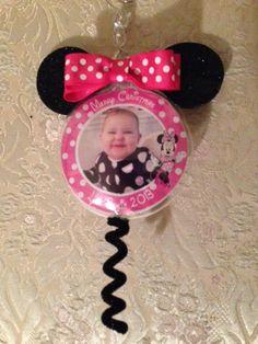 Minnie ornament Personalized Photo Ornaments, Beautiful Gifts, Christmas, Xmas, Navidad, Noel, Natal, Kerst