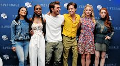 Camila Mendes, Ashleigh Murray, KJ Apa, Cole Sprouse, Lili Reinhart & Madelaine Petsch at the 'Riverdale' TV series photocall in Mexico City on April 6, 2017.