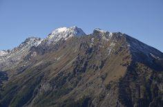 Val Chisone (TO) - Il monte Albergian, visto dal sentiero per il monte Pelvo.