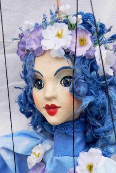Fairy blue marionette, puppet